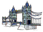 bascule bridge,River Thames,stationary steam engine,suspension bridge,Tower Bridge